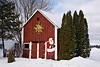 Barn with Santa, Sauk County, Wisconsin