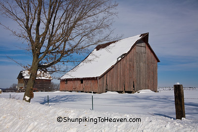 Red Barn in Winter, Richland County, Wisconsin