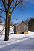 Winter Barn Scene, Sauk County, Wisconsin