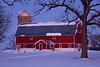 Red Barn in Winter, Rock County, Wisconsin