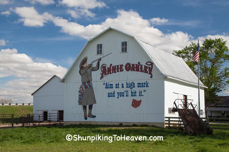 Annie Oakley Barn Mural, Darke County, Ohio