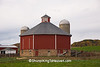Round or Octagon Barn, Rural American Architecture, Sauk County, Wisconsin