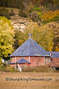 Octagon Barn in Autumn, Sauk County, Wisconsin