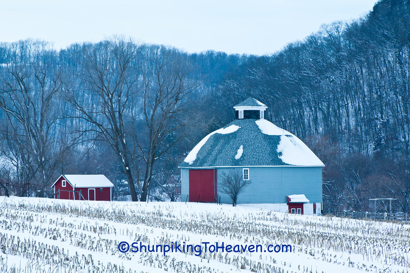 Round Barn in Winter, Vernon County, Wisconsin