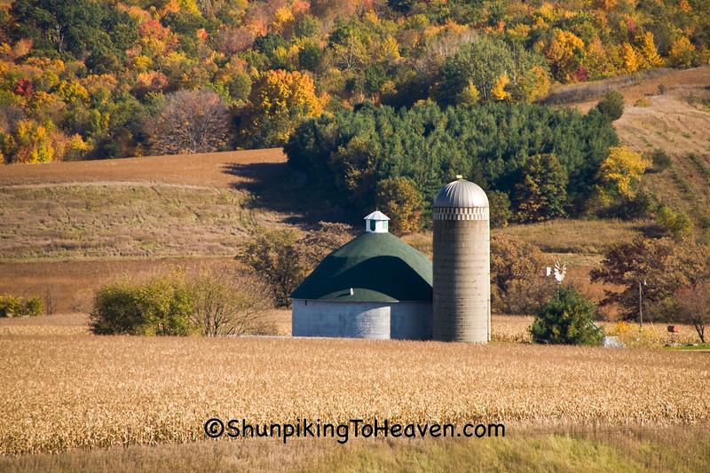 Round Barn and Silo, Vernon County, Wisconsin