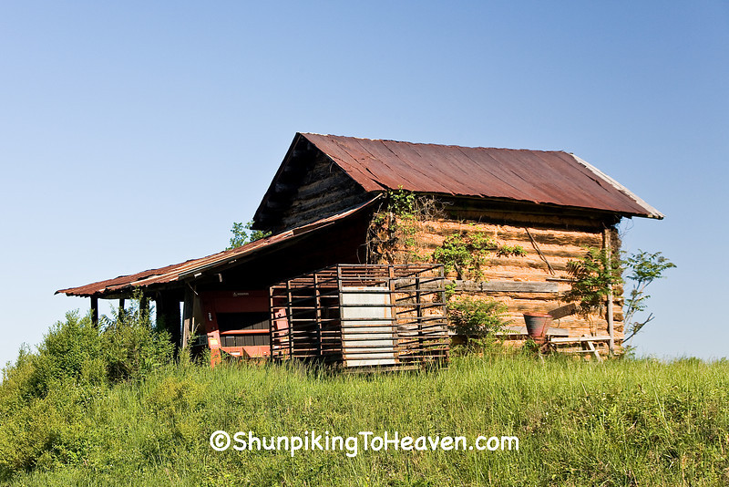 Log Tobacco Barn, Patrick County, Virginia