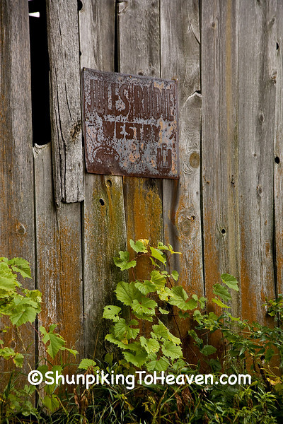 Rusty Sign on Old Tobacco Barn, Crawford County, Wisconsin
