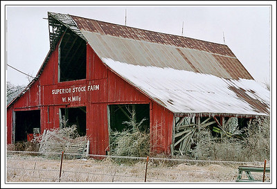 Classic red barn near Burlingame, Kansas