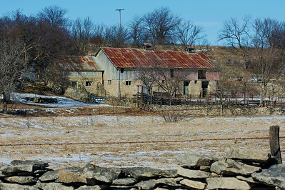 Stone barn in Waubaunsee Co., Kansas