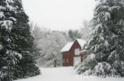 Our Barn in Winter