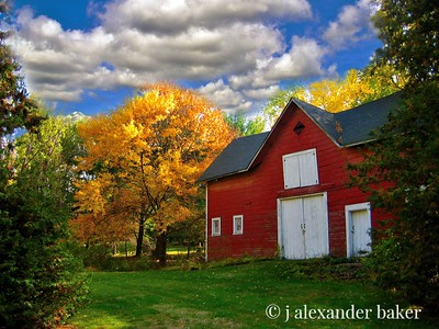 Our barn in fall