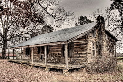 Gillham House Log Dog Trot  - Royal, AR  ca. 1866