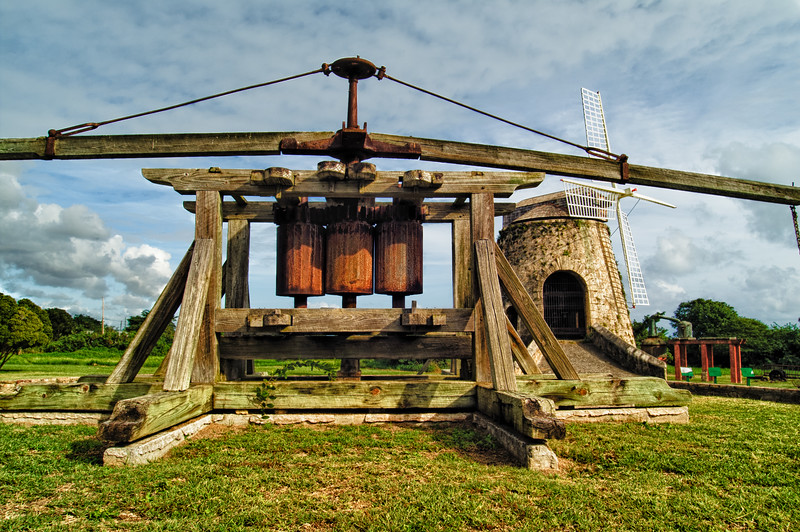 Sugar Cane Animal Mill and Windmill, Whim Plantation, St. Croix, US Virgin Islands