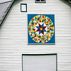 Barn Quilt on White Dutch Barn, Lindside, West Virginia