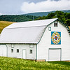 Barn Quilt on White Dutch Barn, Lindside, West Virginia