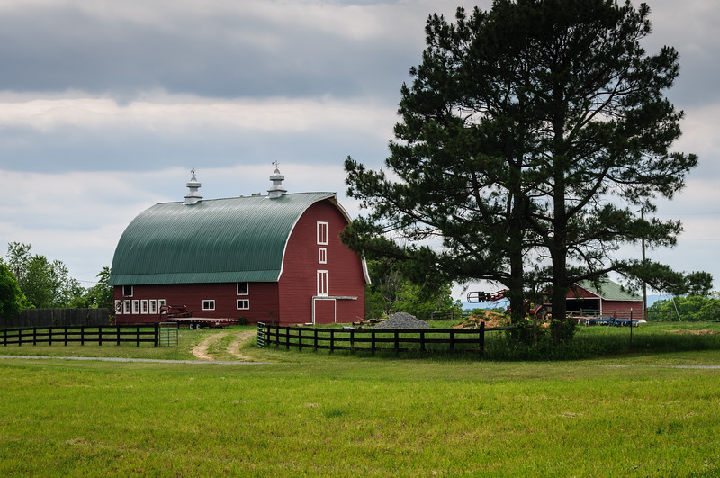 Red Barn, Inglewood Farm, US Route 15, Gordonsville, Louisa County, Virginia
