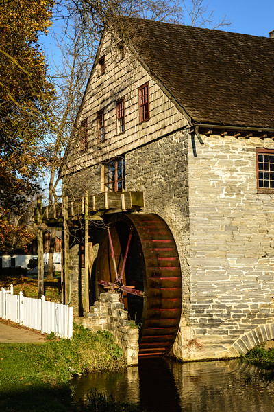 John Herr Grist Mill, Mill Bridge Village, Pennsylvania