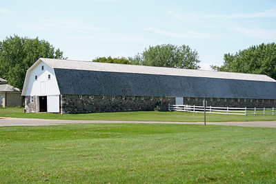 This stone barn is huge....Fort Sisseton SD.