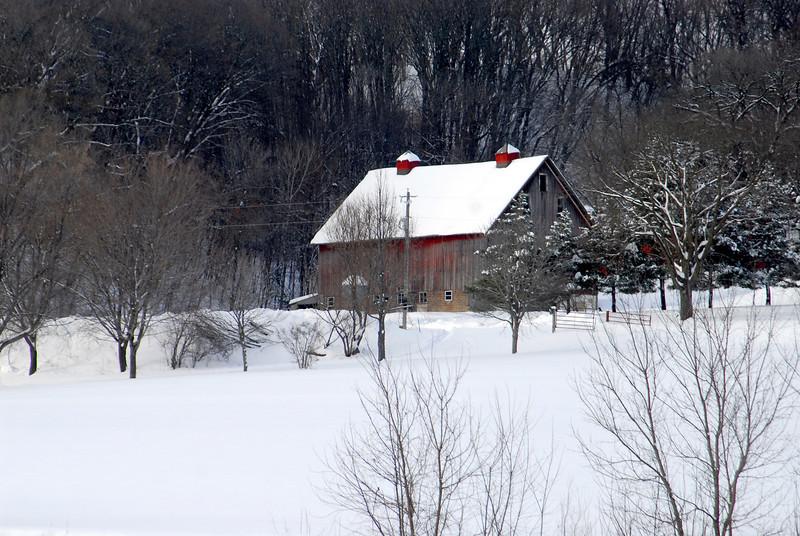 Snow Barn near Carver, MN (along the MN River)
