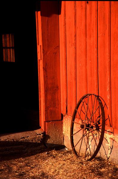 Wagon wheel in the morning light
