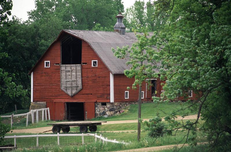 Classic red dairy barn - rural Minnesota