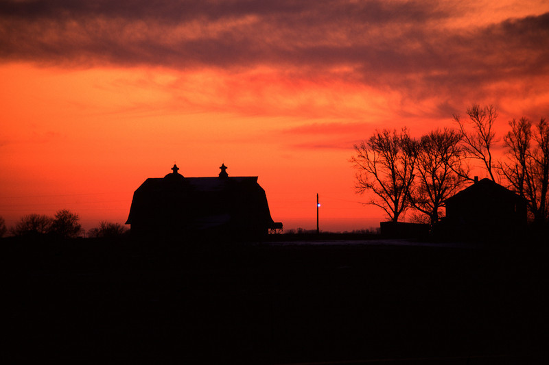 End of the day on the farm