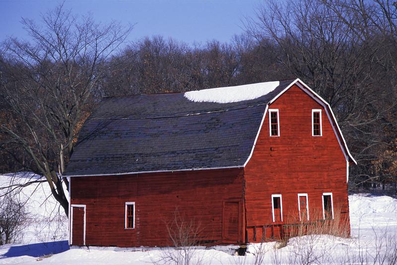 Small red barn near Zimmerman, MN