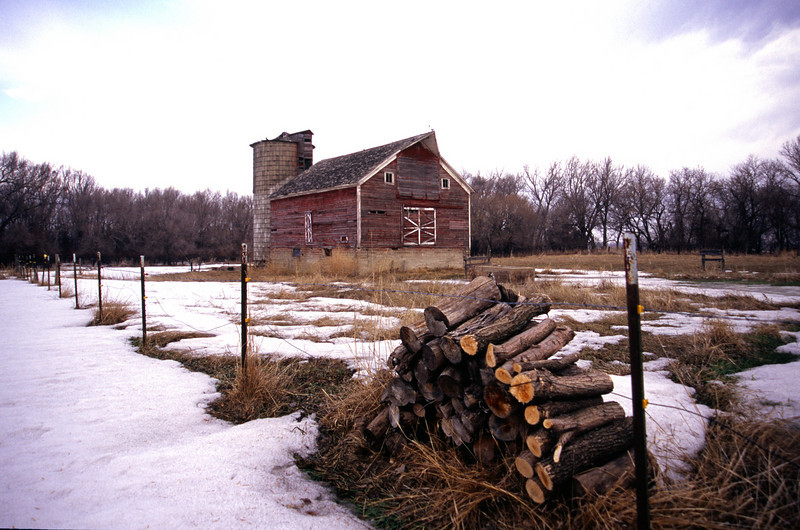 Log Pile Barn in the Red River Valley