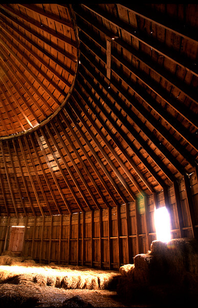 Inside of a Round Barn - Scott County