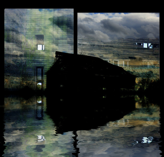 Barn Collage flooded