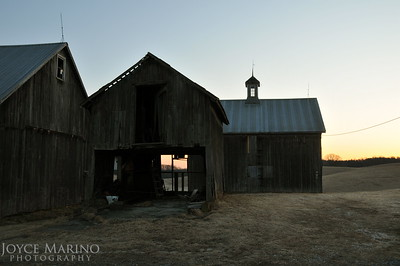 Morning sunrise through old barn in Northern Baltimore Maryland -- DSC_3052