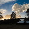 Horse Barn with Sunset Glow