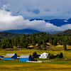 Clouds over Blue Barns