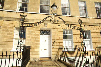 Entrance to a Bath Georgian House