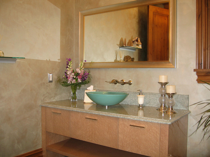 A remodeled bath to add lightness to a once dark space.