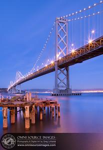 Oakland-San Francisco Bay Bridge at Twilight. Thursday, February 21, 2013 at 6:21 PM. 30 second exposure at f/16, ISO 200, 24mm.