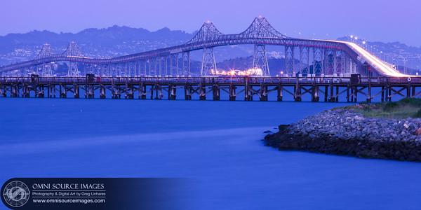 Richmond San Rafael Bridge Twilight