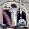 Bell six was removed from the bell tower on Feb. 6 to have a crack repaired. the bell weights 4,800 lbs.