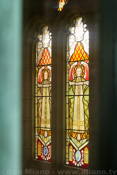 More stained glass in Adolphus Busch's mausoleum; this time on the side wall.