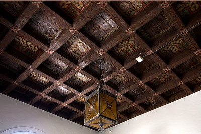 Ground floor ceiling of the Bell Tower and the Beverly Vista Beacon, 1927-2006. How will they look to future generations? Stay tuned to this gallery.