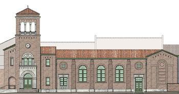 Architect's Rendering of proposed Charleville wing