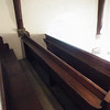 Up on the balcony, two more rows of pews each side.