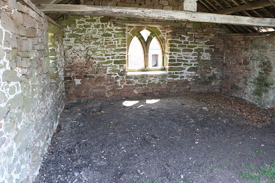 Inside of the courtyard outbuilding