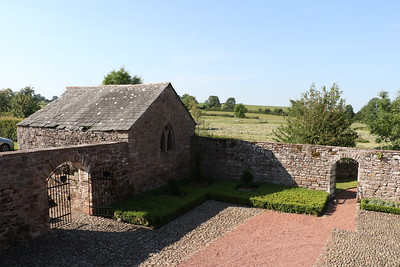 Evening view of the courtyard outbuilding