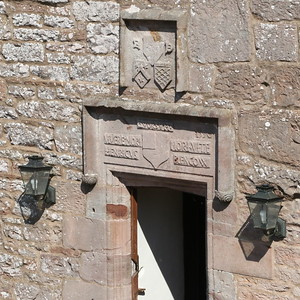 Markings above courtyard door