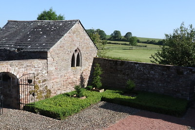 Morning view of the courtyard outbuilding