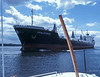 Freighter Danilovgrad - St Lawrence Seaway near Brockville - around 1978.  Shot from the K Wayne Simpson tour boat being delivered to Toronto harbour from Montreal.