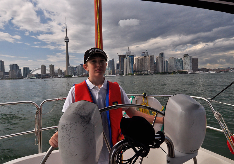 Alec helms into Toronto harbour - 2011.