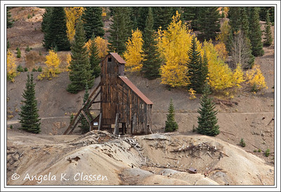 Yankee Girl Mine on scenic Highway 550 is probably one of the most photographed historic mines in Colorado