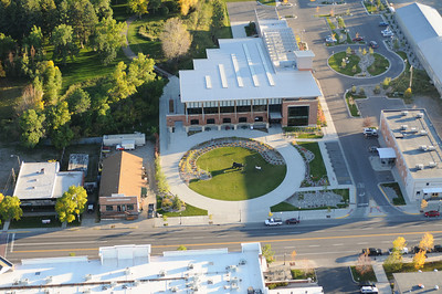 Aerial Photography Bozeman Public Library Montana Photography by Jim R Harris